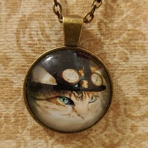 Jewelry - ♡2/$7 or 4/$10♡ Steampunk Kitty Necklace